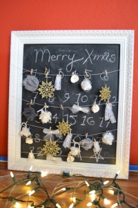 Chalkboard advent calender
