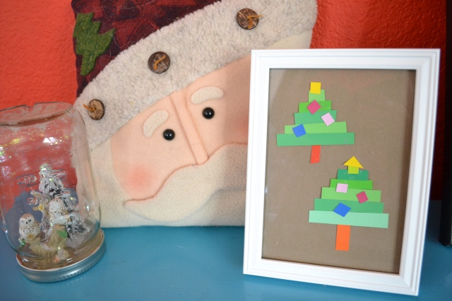 paint chip christmas art