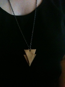 geometric clay necklace